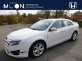 2012 White Platinum Tri-Coat Ford Fusion SE #108259799