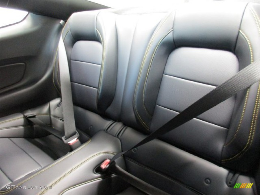 Ebony Yellow Jacket Stitching Interior  Ford Mustang Gt Premium Coupe Photo