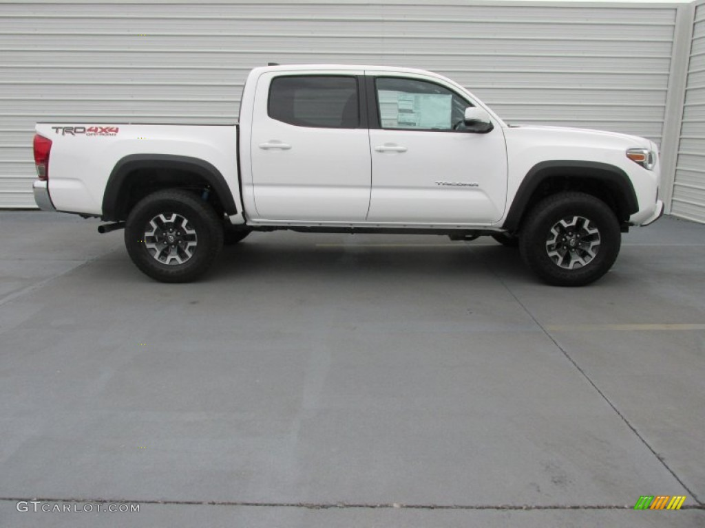 super white 2016 toyota tacoma trd off road double cab 4x4 exterior photo 108321639. Black Bedroom Furniture Sets. Home Design Ideas