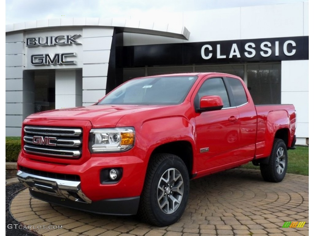 2016 cardinal red gmc canyon sle extended cab 4x4 108315990 car color galleries. Black Bedroom Furniture Sets. Home Design Ideas