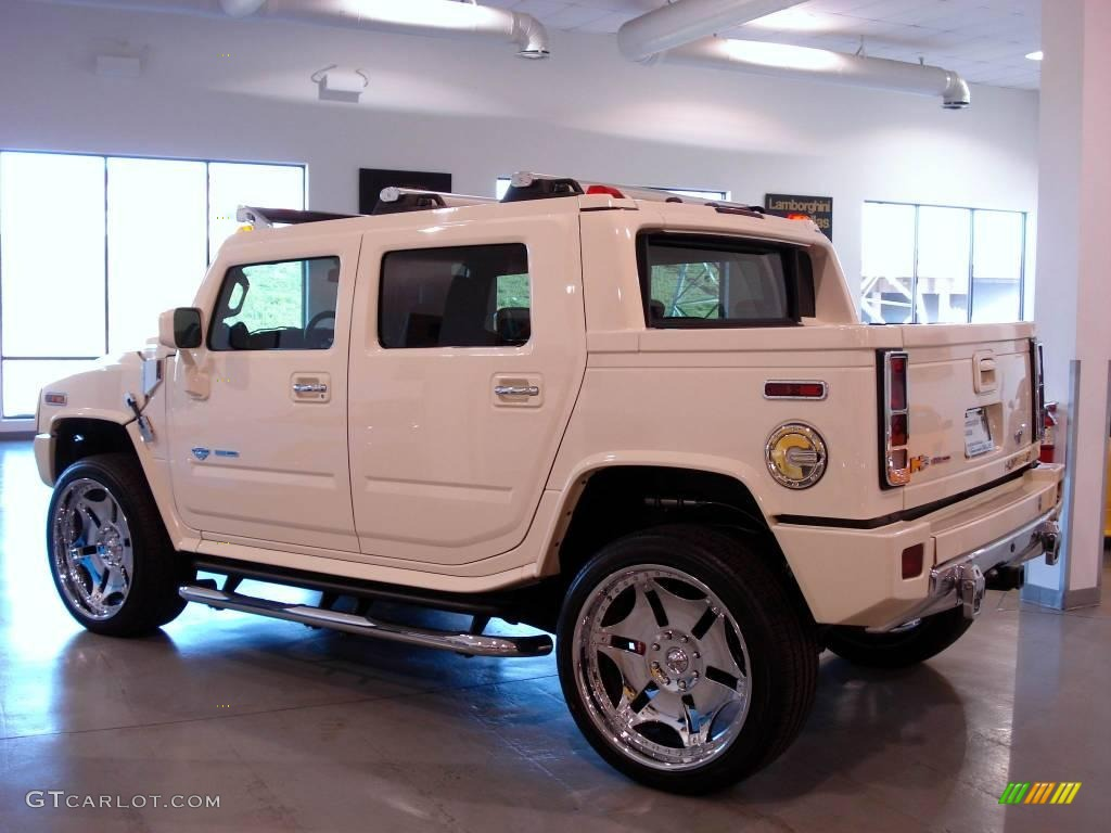 2005 white hummer h2 sut alpha duramax diesel conversion. Black Bedroom Furniture Sets. Home Design Ideas