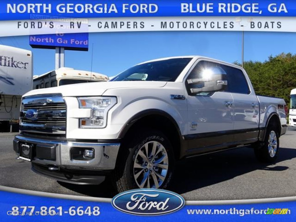 2015 white platinum tricoat ford f150 king ranch supercrew 4x4 108353427 car. Black Bedroom Furniture Sets. Home Design Ideas