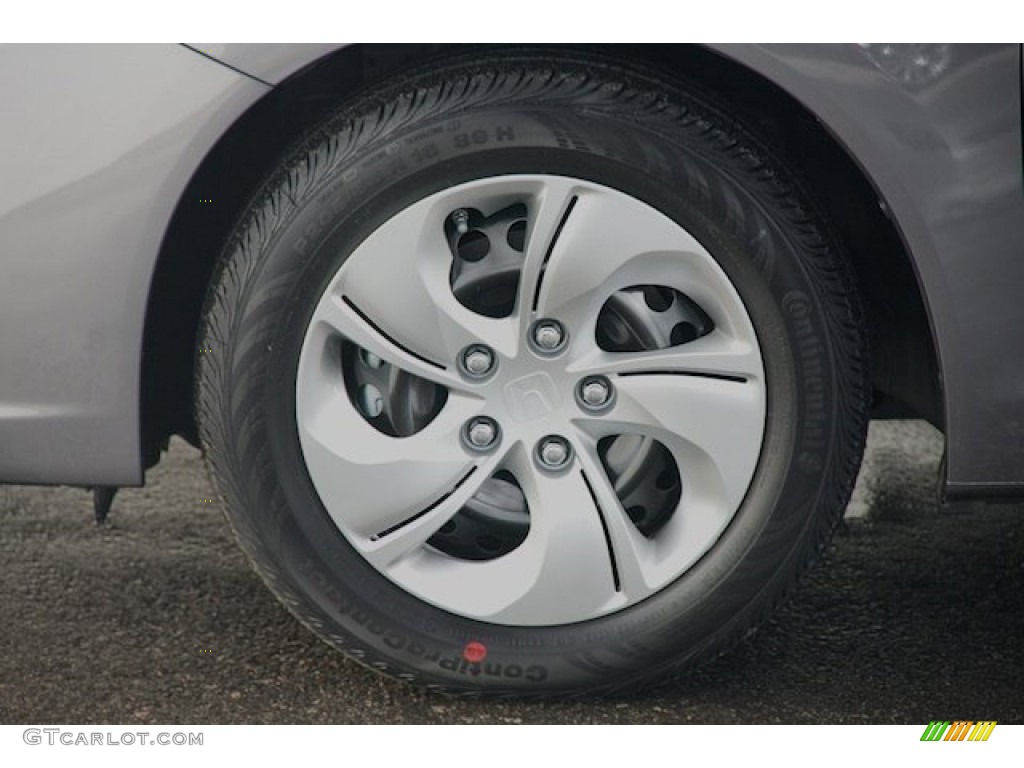 2015 Civic LX Sedan - Modern Steel Metallic / Black photo #7