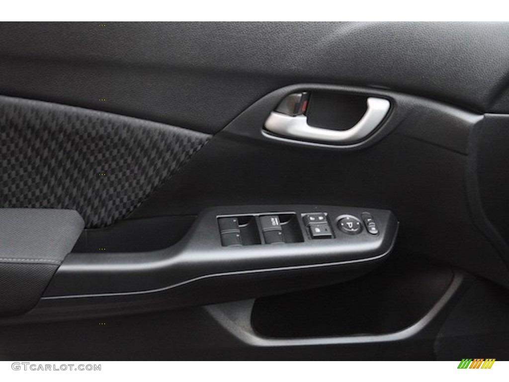 2015 Civic LX Sedan - Modern Steel Metallic / Black photo #9
