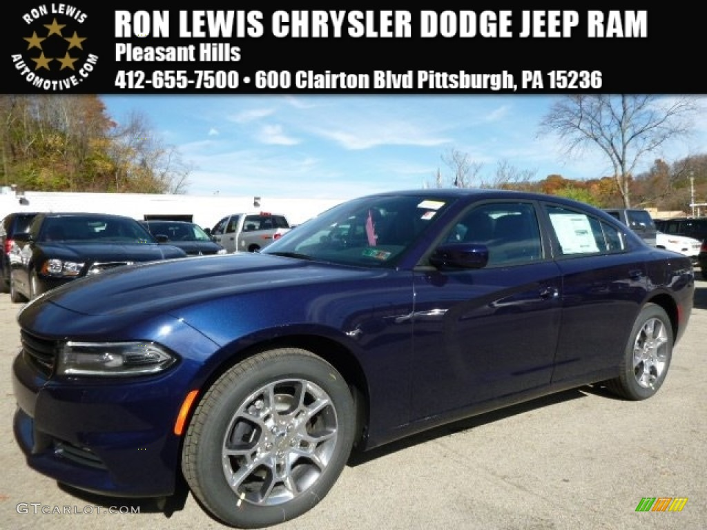 2016 Jazz Blue Pearl Coat Dodge Charger Sxt Awd 108375074