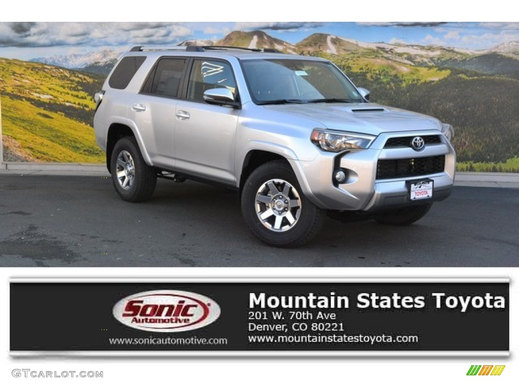 2016 4runner Trail Premium 4x4 Clic Silver Metallic Black Photo 1