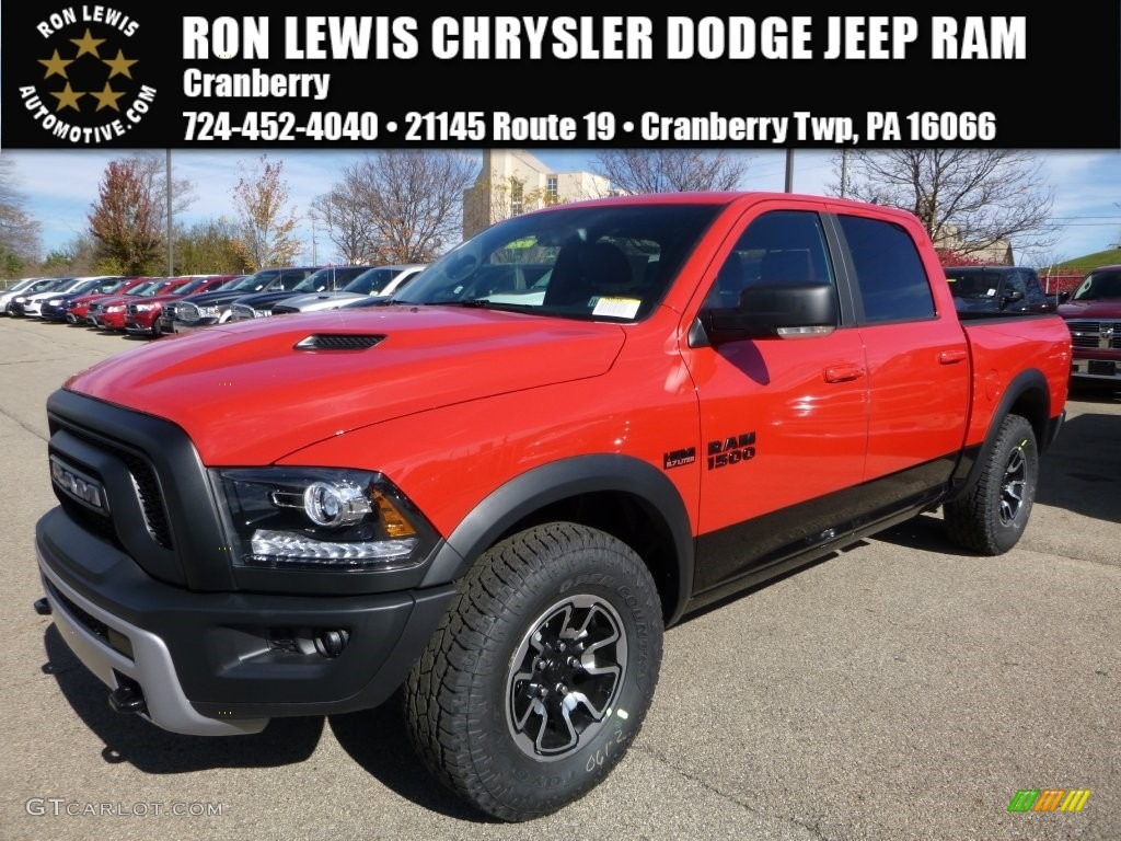 Ram 1500 Sport Crew Cab 4x4 >> 2016 Flame Red Ram 1500 Rebel Crew Cab 4x4 #108374928 | GTCarLot.com - Car Color Galleries