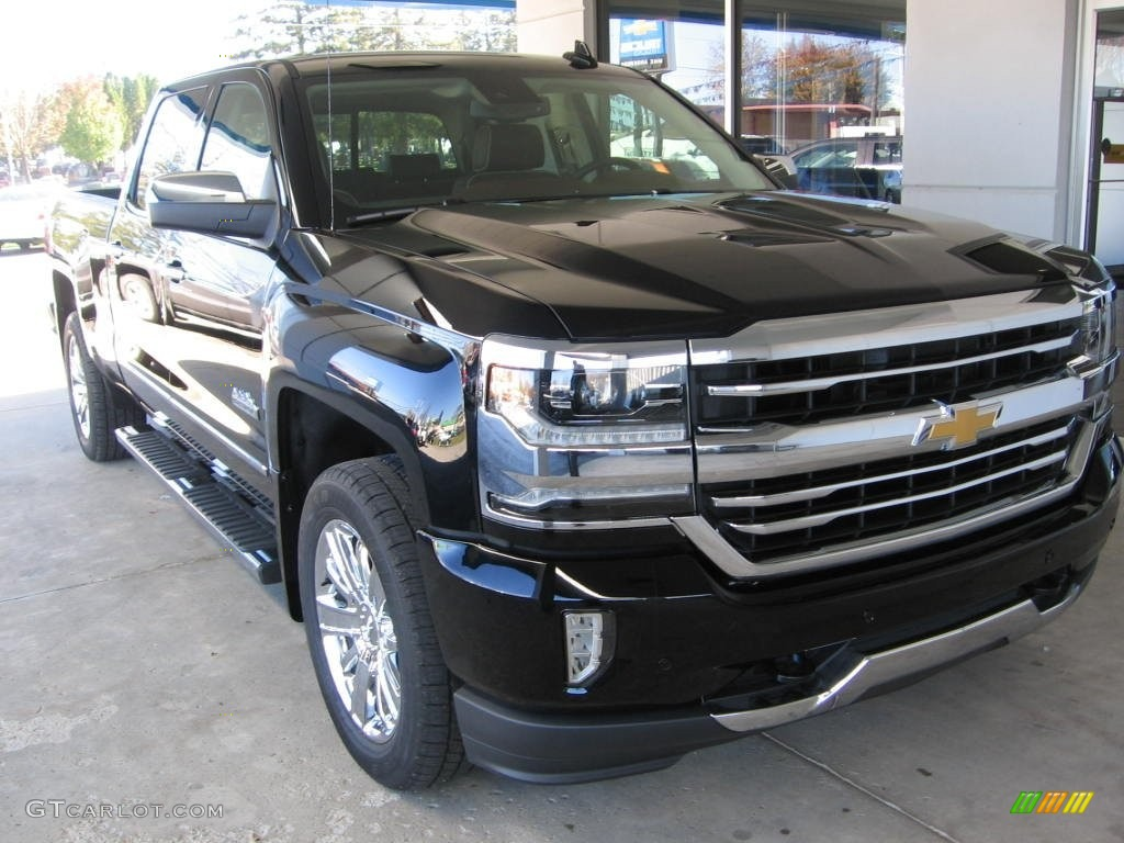 2016 black chevrolet silverado 1500 high country crew cab 4x4 108402900 car. Black Bedroom Furniture Sets. Home Design Ideas