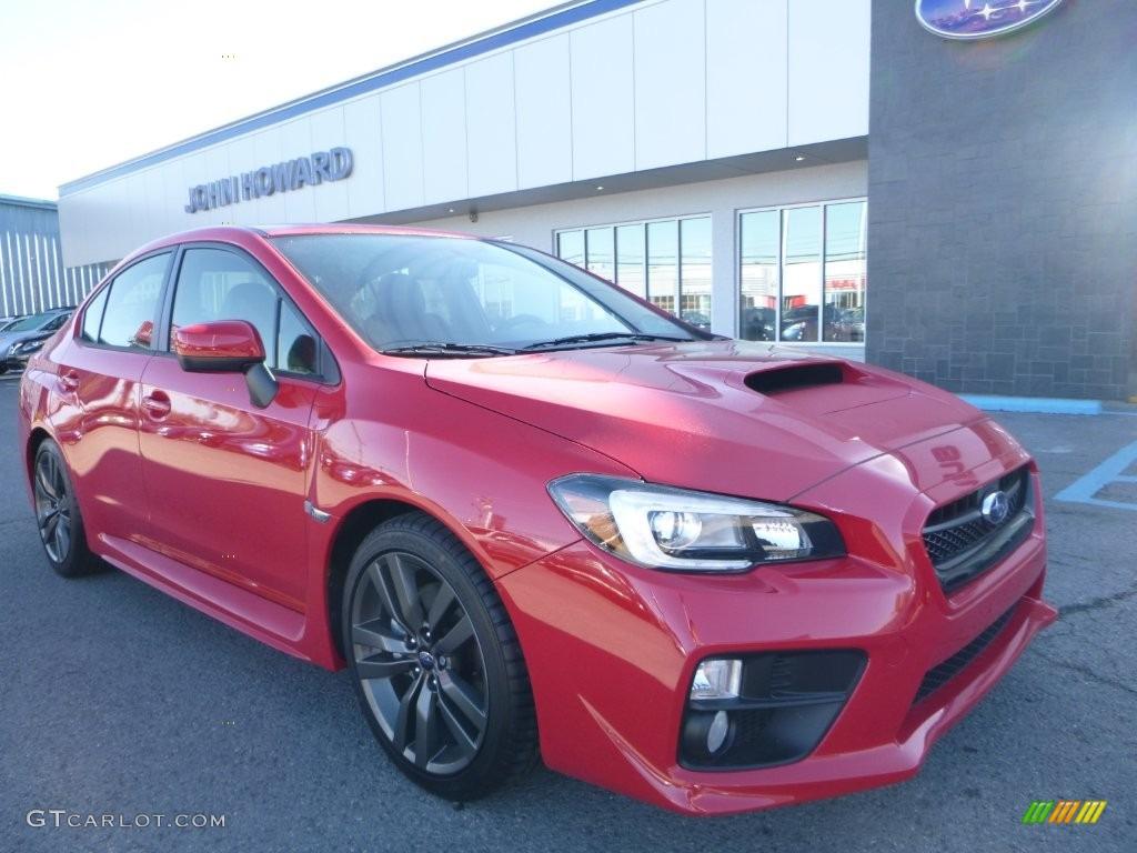 Pure Red Subaru Wrx