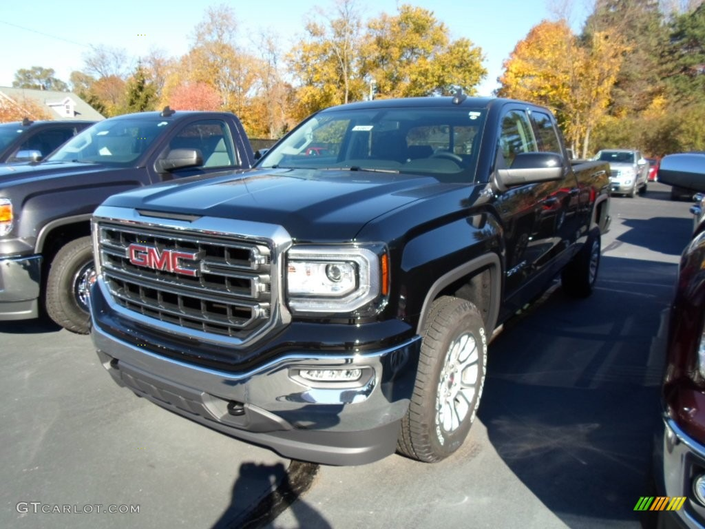 2016 onyx black gmc sierra 1500 sle double cab 4wd 108435821 car color galleries. Black Bedroom Furniture Sets. Home Design Ideas