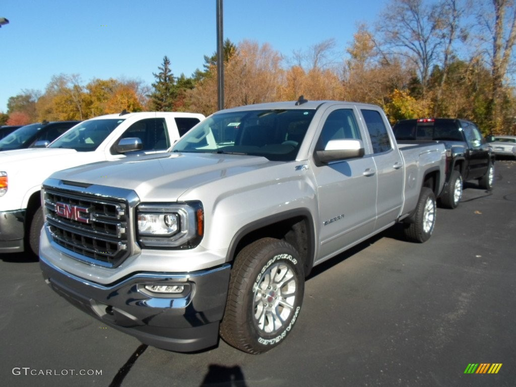 2016 quicksilver metallic gmc sierra 1500 sle double cab 4wd 108435820 car. Black Bedroom Furniture Sets. Home Design Ideas