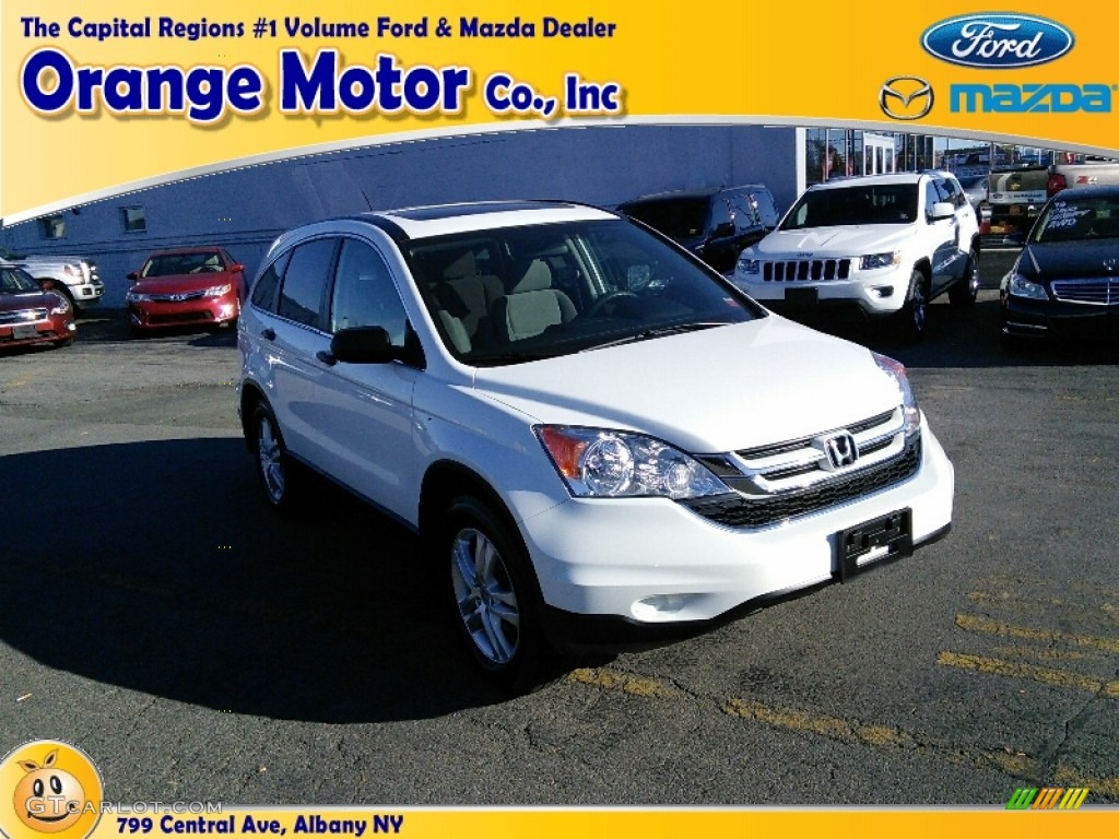2011 CR-V EX 4WD - Taffeta White / Ivory photo #1