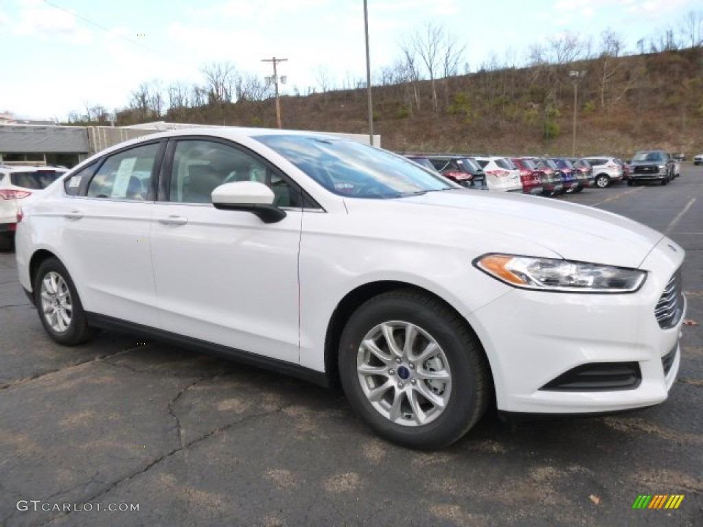 2016 Oxford White Ford Fusion S 108472210 Photo 9