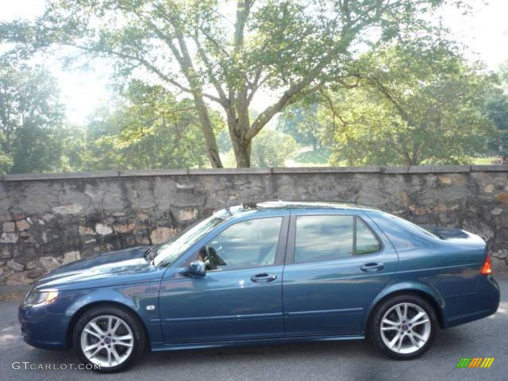 Fusion Blue Metallic 2006 Saab 9-5 2.3T Sedan Exterior Photo ...
