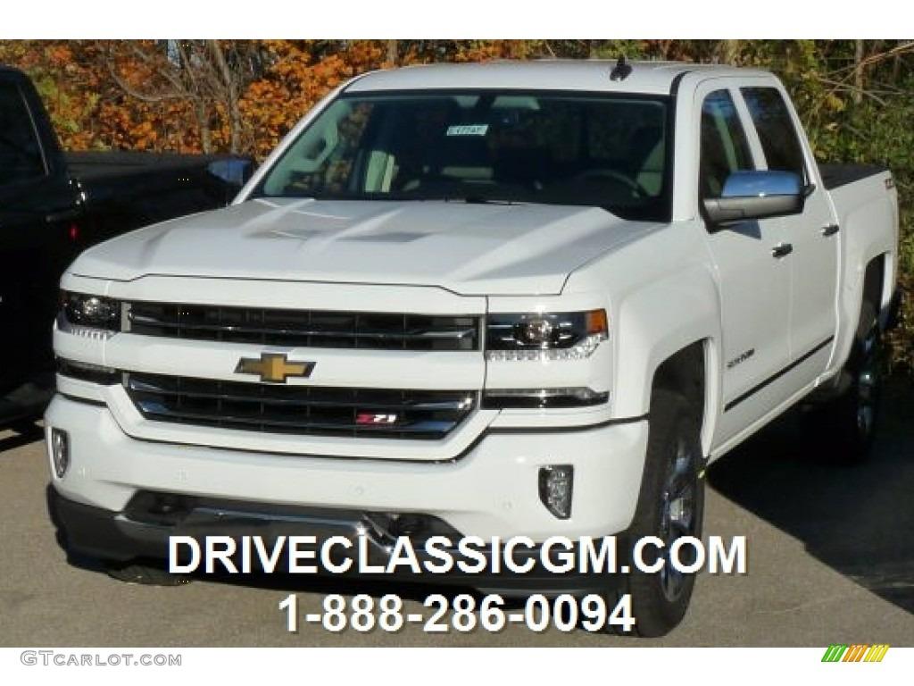2016 summit white chevrolet silverado 1500 lt z71 crew cab 4x4 108472432 car. Black Bedroom Furniture Sets. Home Design Ideas