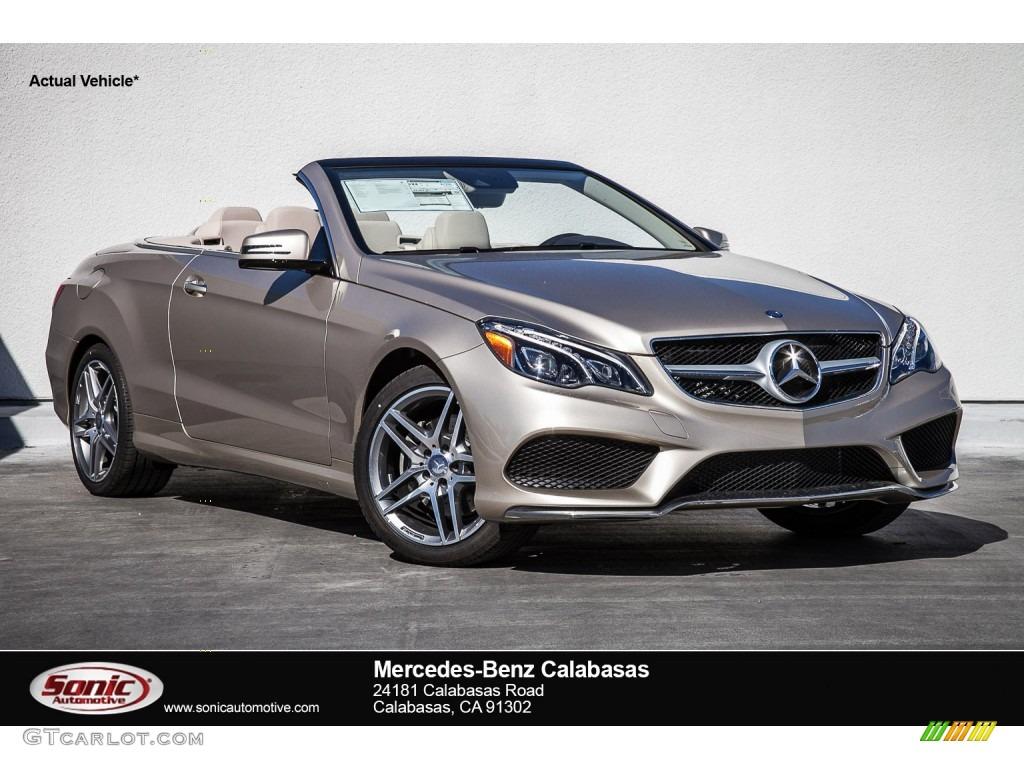 2016 dune silver metallic mercedes benz e 400 cabriolet for Mercedes benz color