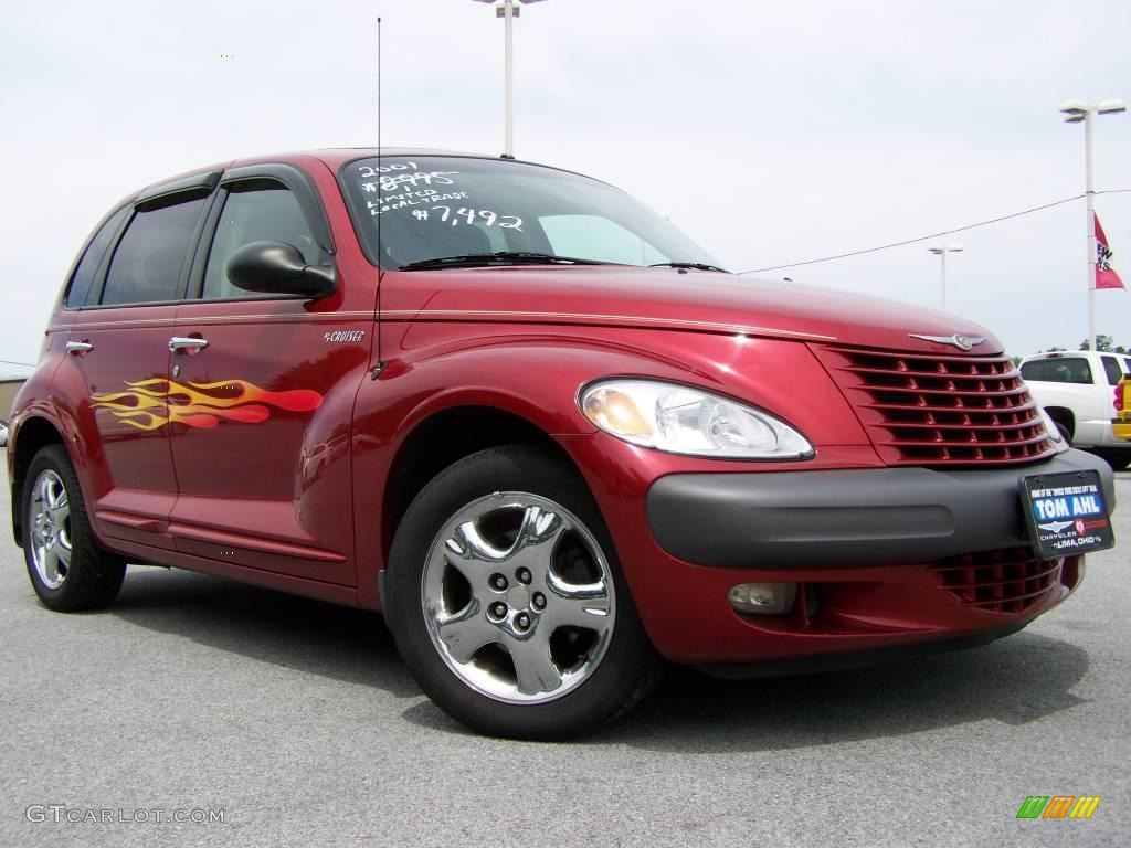 2001 inferno red pearl chrysler pt cruiser limited 10827517
