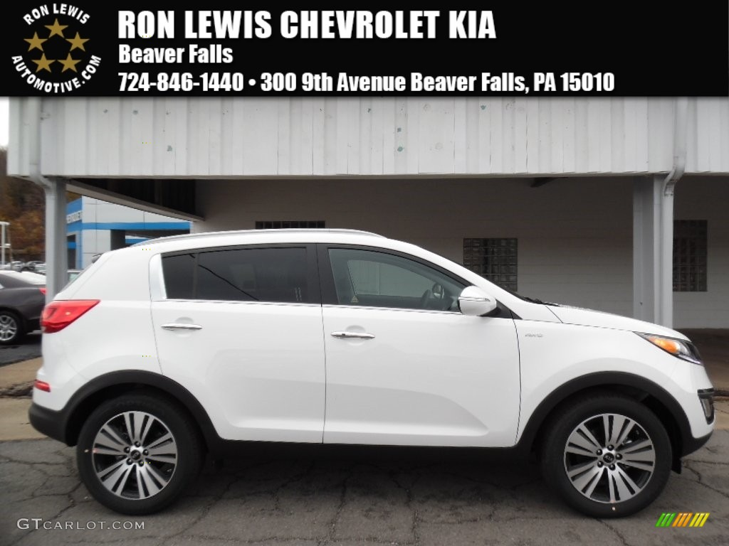 2016 clear white kia sportage ex awd 108537458 car color galleries. Black Bedroom Furniture Sets. Home Design Ideas