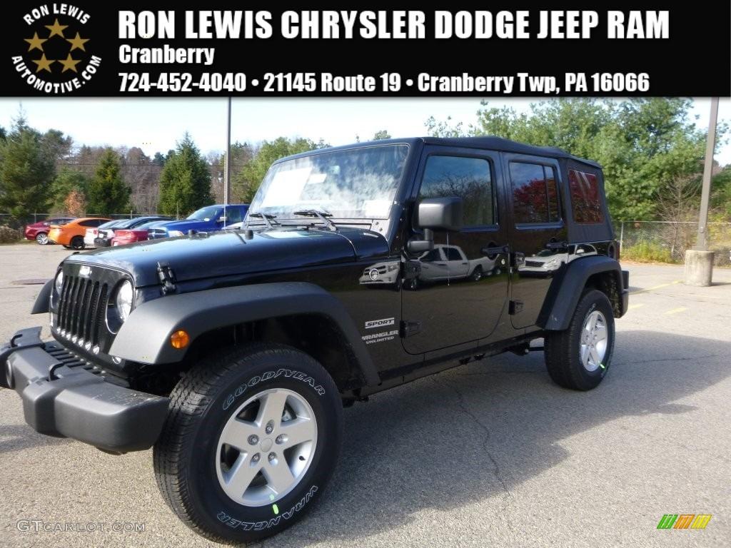 2016 black jeep wrangler unlimited sport 4x4 108555956 car color galleries. Black Bedroom Furniture Sets. Home Design Ideas