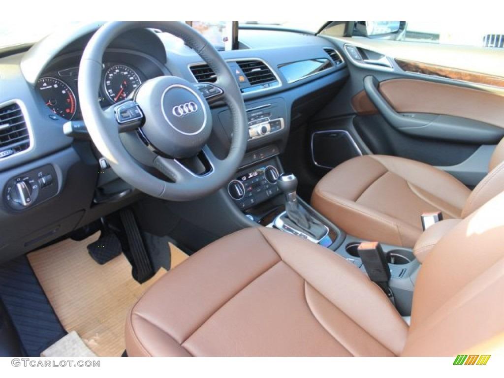 Chestnut Brown Interior 2016 Audi Q3 2 0 Tsfi Prestige Photo 108584455 Gtcarlot Com