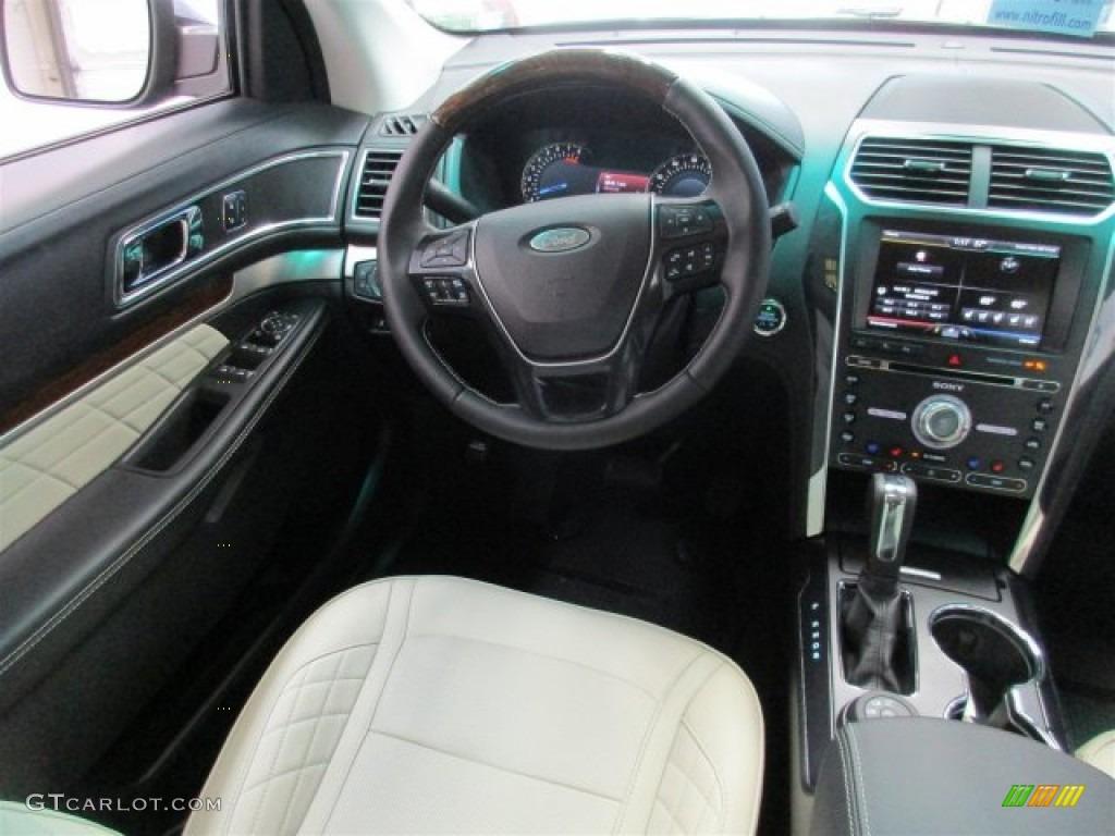 Platinum Medium Soft Ceramic Nirvana Leather Interior 2016 Ford Explorer Platinum 4WD Photo ...