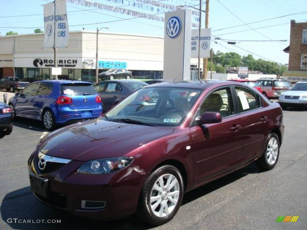 2007 phantom purple mica mazda mazda3 i sport sedan. Black Bedroom Furniture Sets. Home Design Ideas
