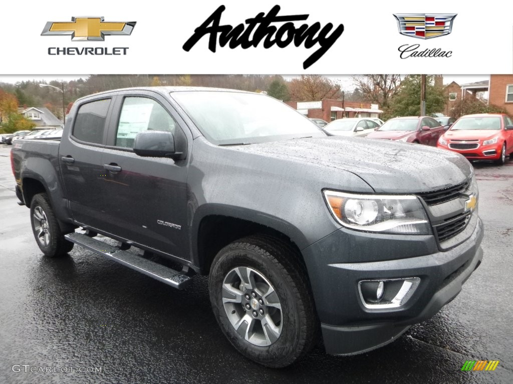 2016 cyber gray metallic chevrolet colorado z71 crew cab. Black Bedroom Furniture Sets. Home Design Ideas