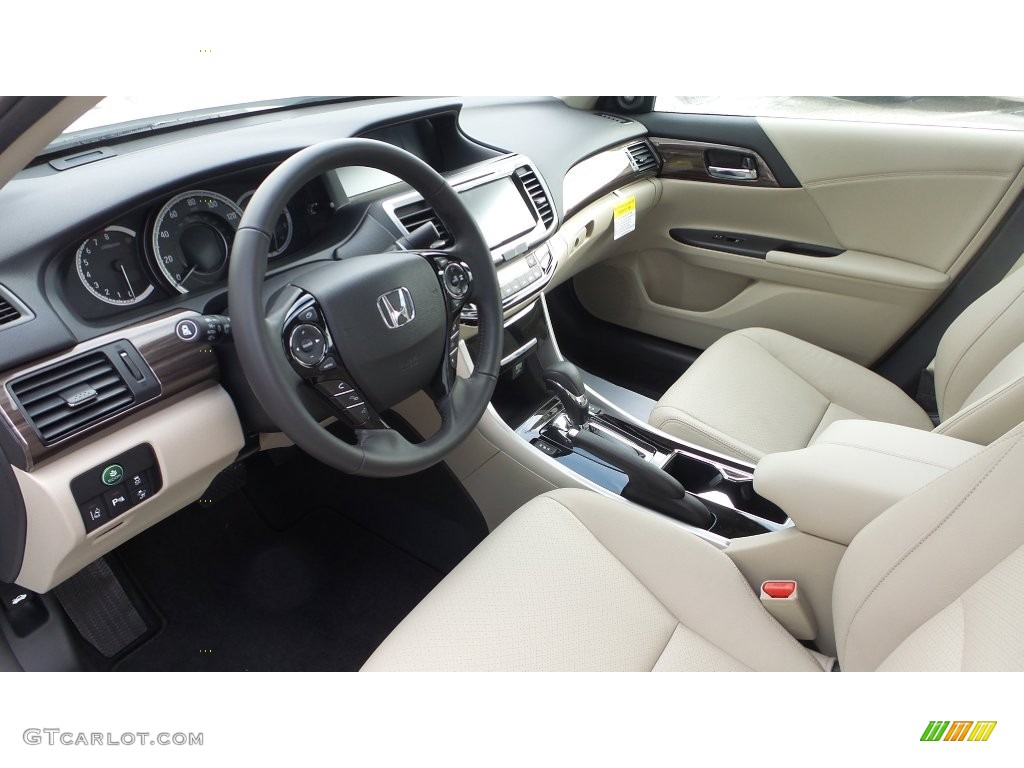 Ivory Interior 2016 Honda Accord Touring Sedan Photo 108634275