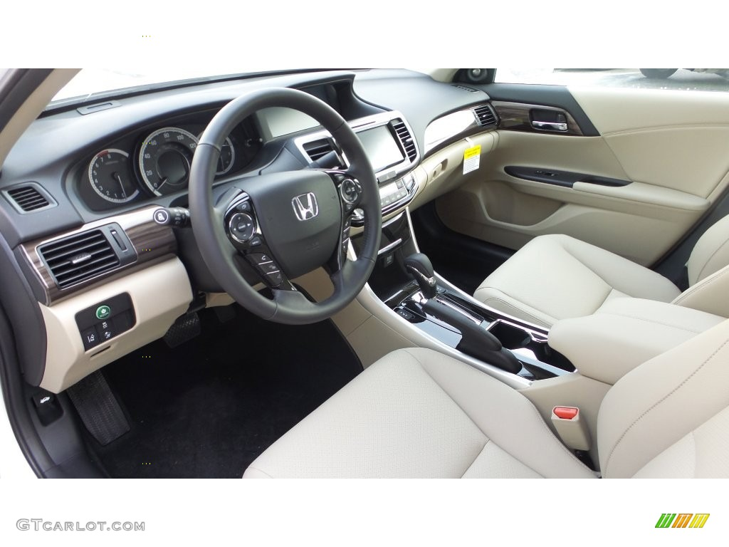 Ivory Interior 2016 Honda Accord Ex L V6 Sedan Photo