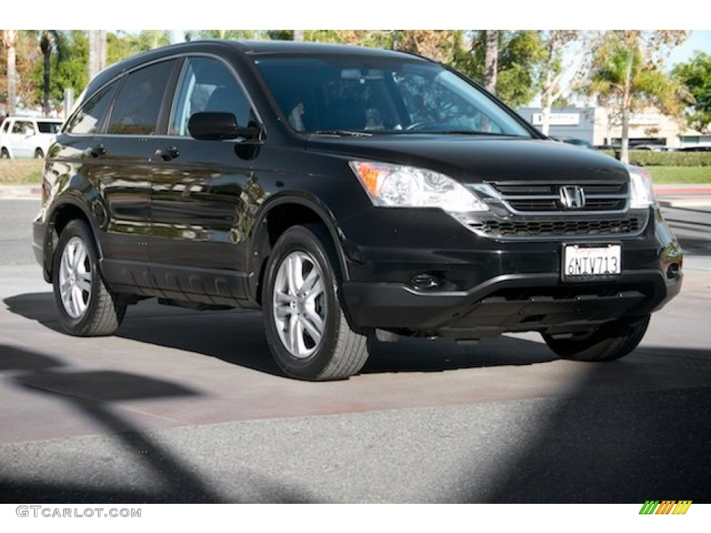 2010 CR-V EX-L - Crystal Black Pearl / Black photo #1