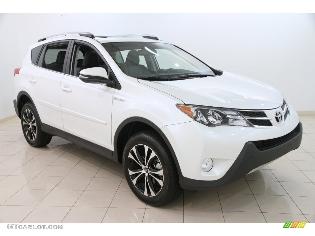 2015 super white toyota rav4 limited awd 108610306 car color galleries. Black Bedroom Furniture Sets. Home Design Ideas