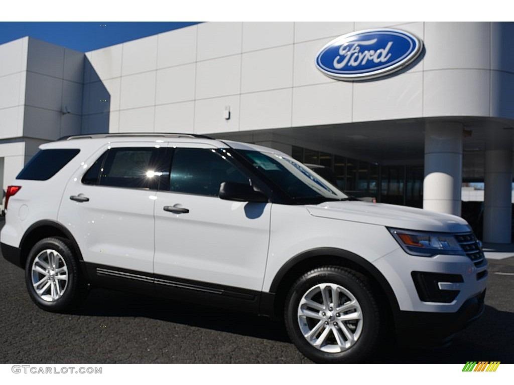 Oxford White 2016 Ford Explorer Fwd Exterior Photo 108639428
