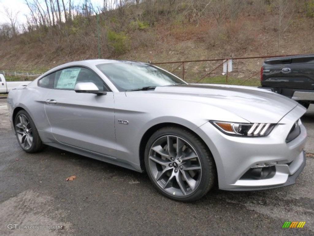 2016 Mustang Gt Premium Coupe Ingot Silver Metallic Ebony Photo 1