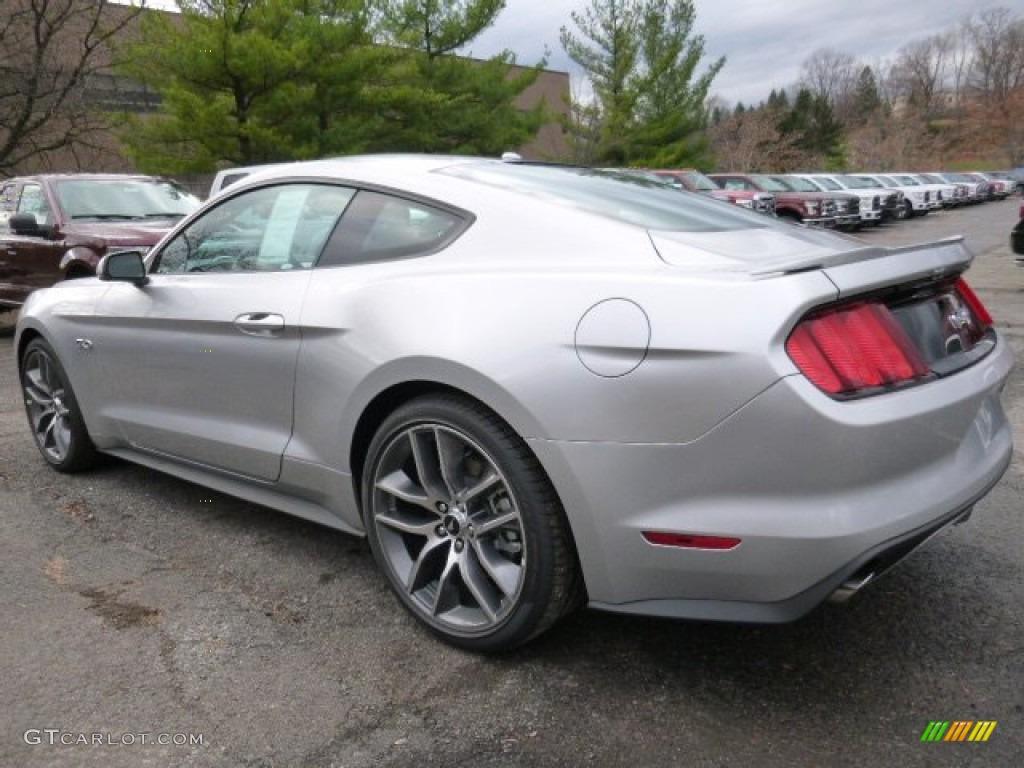 2016 Mustang Gt Premium Coupe Ingot Silver Metallic Ebony Photo 4