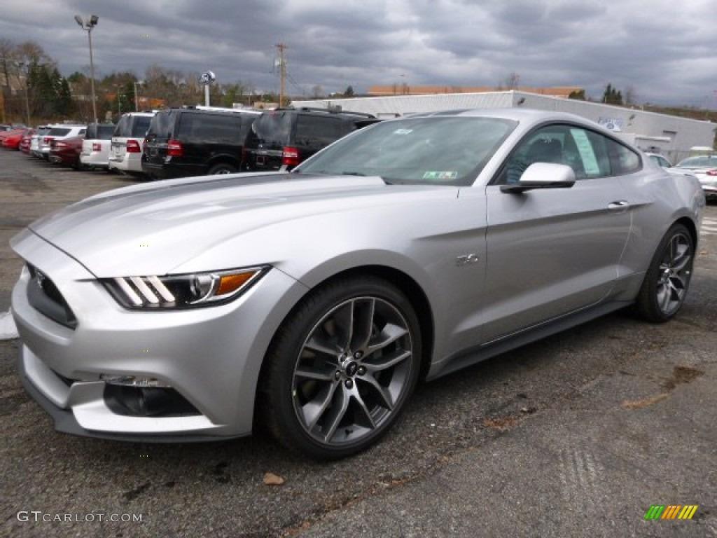 2016 Mustang Gt Premium Coupe Ingot Silver Metallic Ebony Photo 5