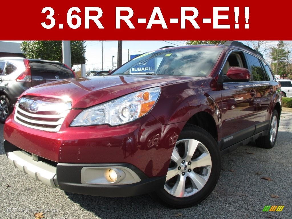 2011 ruby red pearl subaru outback 3 6r limited wagon. Black Bedroom Furniture Sets. Home Design Ideas