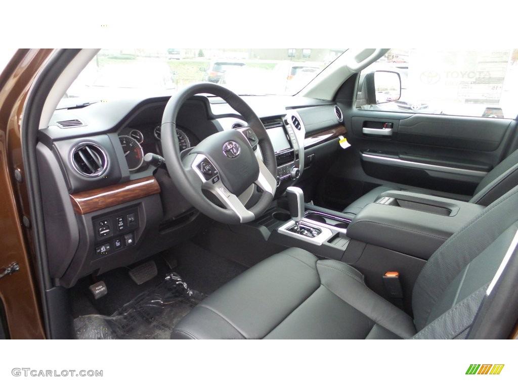 Black Interior 2016 Toyota Tundra Limited CrewMax 4x4 Photo #108702715