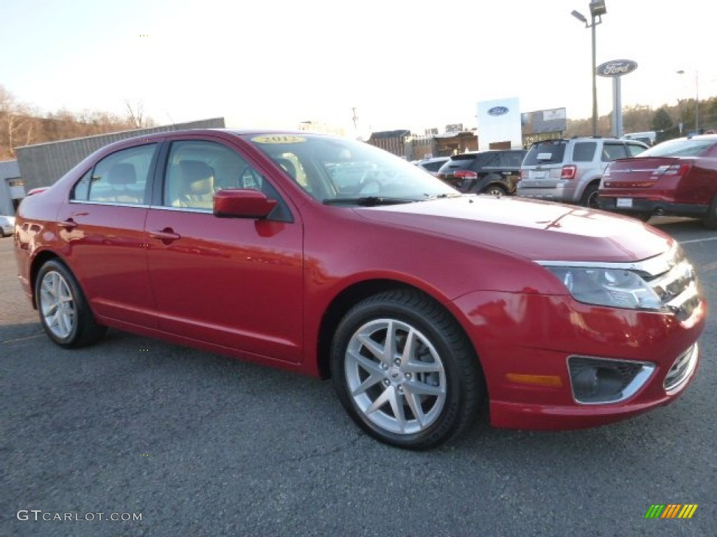 2012 Red Candy Metallic Ford Fusion Sel V6 Awd 108728553 Gtcarlot Com Car Color Galleries