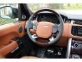 2016 Land Rover Range Rover Ebony/Tan Interior Steering Wheel Photo