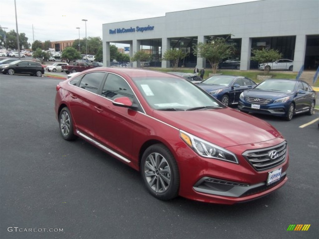 2016 Sonata Sport Venetian Red Gray Photo 1