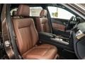 Chestnut Brown/Black 2016 Mercedes-Benz E Interiors