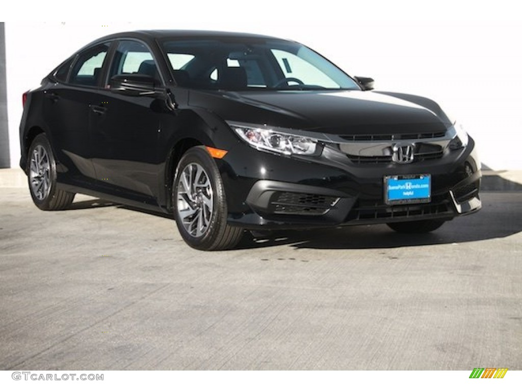2016 Civic Ex Sedan Crystal Black Pearl Photo 1