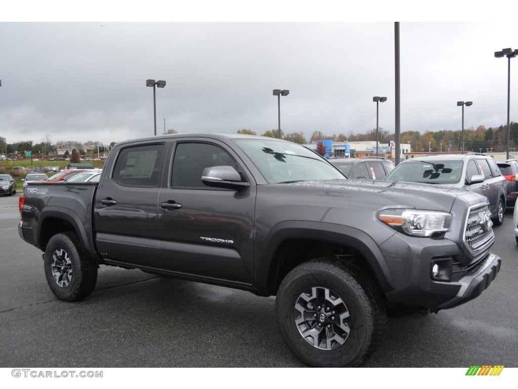 2016 magnetic gray metallic toyota tacoma trd off road double cab 4x4 108824790. Black Bedroom Furniture Sets. Home Design Ideas