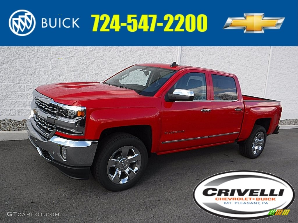 2016 Silverado 1500 LTZ Crew Cab 4x4 - Red Hot / Jet Black photo #1