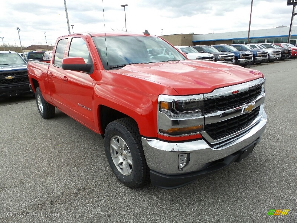 Red Hot 2016 Chevrolet Silverado 1500 LT Double Cab 4x4 Exterior Photo #108853943