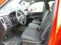 Jet Black Front Seat Photo for 2016 Chevrolet Silverado 1500 #108854015