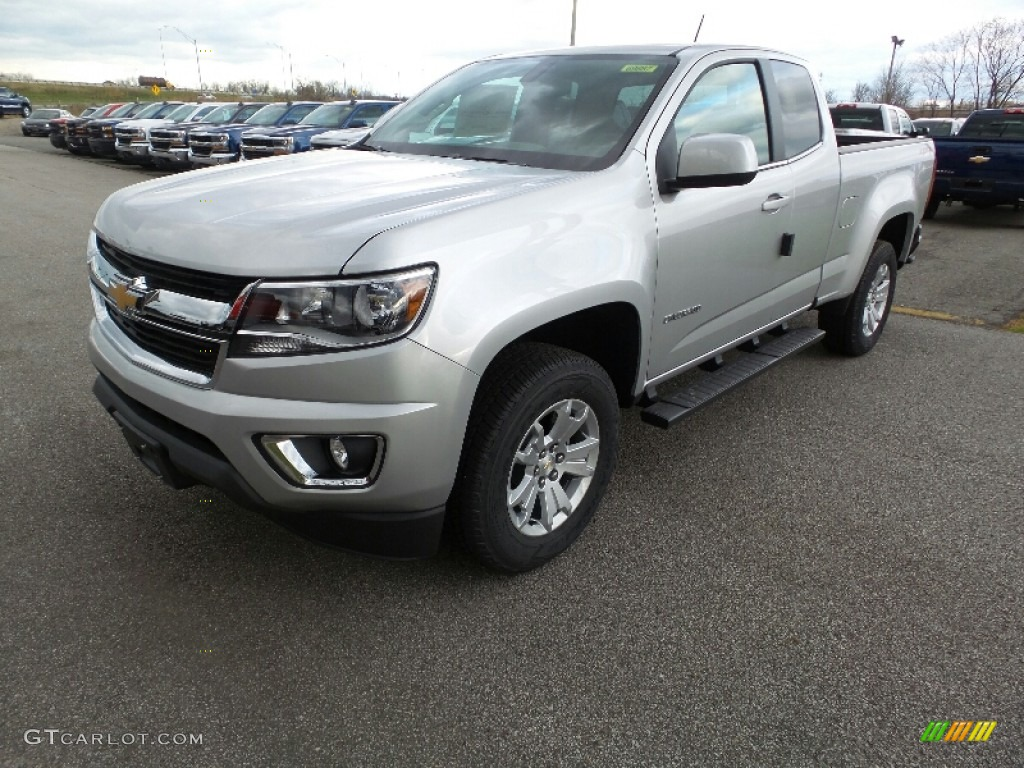 silver ice metallic 2016 chevrolet colorado lt extended cab 4x4 exterior photo 108855563. Black Bedroom Furniture Sets. Home Design Ideas