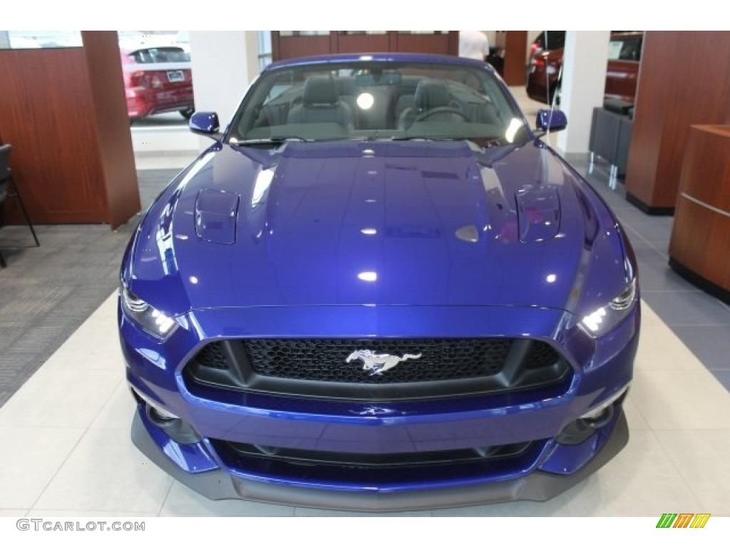 2016 Mustang GT Premium Convertible - Deep Impact Blue Metallic / Ebony photo #2