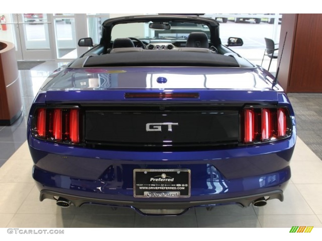 2016 Mustang GT Premium Convertible - Deep Impact Blue Metallic / Ebony photo #4