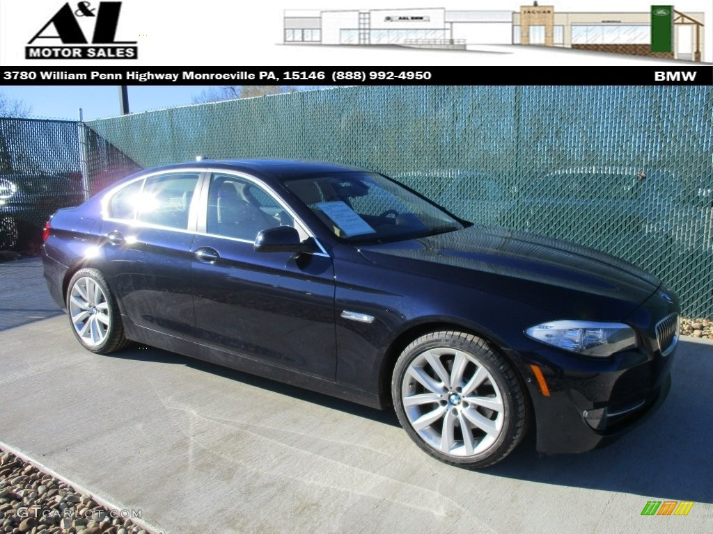2013 5 series 535i xdrive sedan deep sea blue metallic venetian beige photo